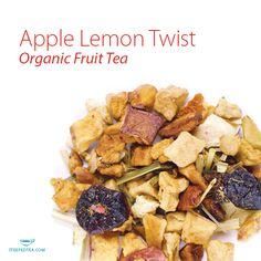 Apple Lemon Twist, Organic Fruit Tea. Apple sweetness balances the ...