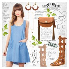 """""""Denim Dress"""" by vanjazivadinovic ❤ liked on Polyvore featuring KG Kurt Geiger, Rika, polyvoreeditorial, DenimStyle, Poyvore and thestyledcollection"""