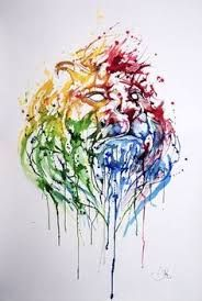 Image result for abstract vivid lion drawing
