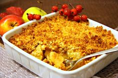 ♥ Máma v kuchyni ♥: Jablečný crumble s kokosovo-mandlovou drobenkou (od 2 - 3 let) Macaroni And Cheese, Ethnic Recipes, Food, Mac And Cheese, Essen, Meals, Yemek, Eten