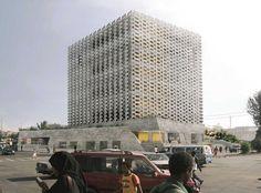 12 projetos vencem o Holcim Awards África e Oriente Médio,Prêmio de reconhecimento: Weaving Publicness: Edifício de escritórios socialmente integrado com fachadas sustentáveis. Cortesia de Holcim Foundation