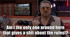 Walter from 'The Big Lebowski' The Big Lebowski, Big Lebowski Meme, Big Lebowski Quotes, Movie Memes, Funny Movies, Movie Quotes, Images Gif, Funny Images, Funny Pictures