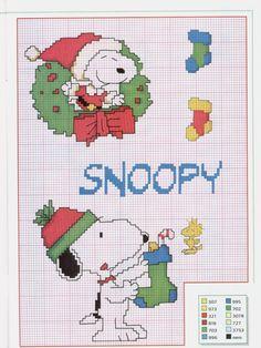 Gallery.ru / Foto # 3 - Nє39 Snoopy Navidad - mornela Xmas Cross Stitch, Cross Stitch Needles, Cross Stitch Charts, Cross Stitch Designs, Cross Stitching, Cross Stitch Embroidery, Cross Stitch Patterns, Snoopy Christmas, Christmas Cross