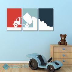 Renkli Kamyon Tablo #çocuk_odası_tabloları #genç_odası_tabloları