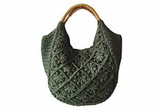 Crochet Hobo, Forest Green Straw Studios