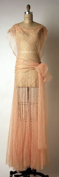 Beautiful confection of a dress of silk lace by John Galliano for his spring/summer 1999 collection.