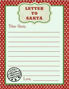 Free Printable Santa Letter Template - √ 25 Free Printable Santa Letter Template , Free Santa Letter Templates the Homeschool Village Free Santa Letter Template, Free Printable Santa Letters, Free Letters From Santa, Templates Printable Free, Free Printables, Printable Labels, Christmas Activities, Christmas Printables, Christmas Traditions