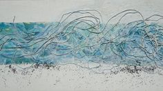 Title Wave Materials sand gesso fabric by RitaTexturePainting, $160.00