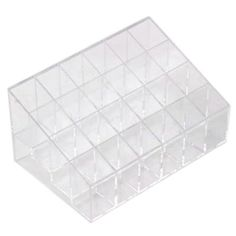 nice Leegoal Clear Cosmetic Stand 24 Lipstick Organizer Nail Polish Makeup Case Display Rack Holder (Style C)