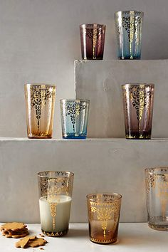 Palace Trellis Glass by anthropologie Style Marocain, Tea Glasses, Kitchen Accessories, Bathroom Accesories, Trellis, My Dream Home, Home Kitchens, Dinnerware, Home Goods