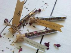 Wedding Favour Test Tube with loose leaf Tea by MYMIMISTAR on Etsy