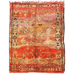 Vintage Moroccan Zemmour Rug | From a unique collection of antique and modern moroccan and north african rugs at https://www.1stdibs.com/furniture/rugs-carpets/moroccan-rugs/