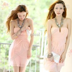 Discount Women's Summer Sexy Pink Strapless Cocktail Party Club Evening Races Dress 2Size S/M Adeal #3682 Online with $20.41/Piece | DHgate