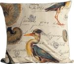 Blue Heron Pillow / Fabric By The Yard
