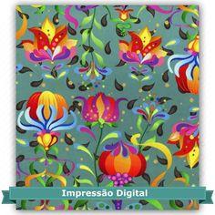 Tecido Estampado para Patchwork - Digital Dreams Petróleo (0,50x1,40) Fabricante:  Atelie Serenissima