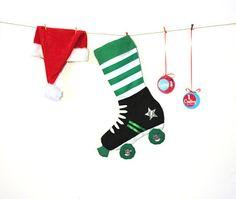 Derby girl skate stocking.