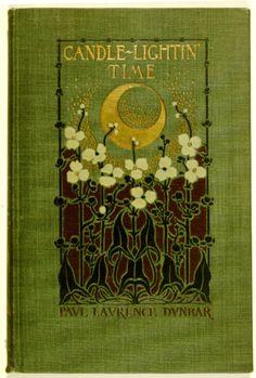 Vintage book cover - Paul Laurence Dunbar - Candle-Lightin' Time - Art Nouveau
