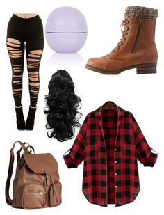 """""""School"""" by cesilou ❤ liked on Polyvore featuring Charlotte Russe, H&M and Topshop"""
