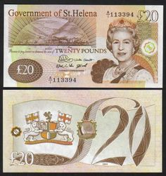 saint helena 20 pounds Queen Elizabeth II at right. Coat of Arms. Money Worksheets, Puerto Rico History, Coins Worth Money, Coin Worth, St Helena, World Coins, Graphic Design Posters, Coin Collecting, Pop Art