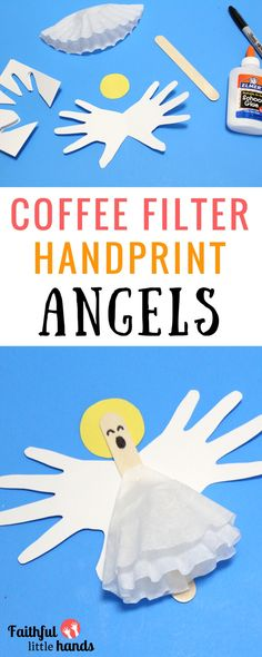Coffee Filter Angels Blue Pin