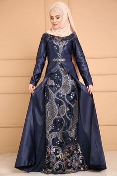 ABİYE Payetli Saten Abiye ALM52679 Laci Islamic Fashion, Muslim Fashion, Modest Fashion, Fashion Outfits, Womens Fashion, Batik Fashion, Abaya Fashion, Batik Muslim, Hijabi Gowns