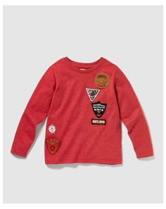 Brotes Boy's red T-shirt with patches at El Corte Inglés
