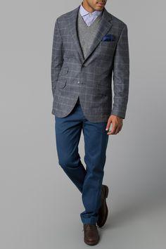 Country Windowpane Jacket - Jackets & Blazers - Shop By Product - Men | Hackett