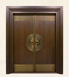 Online Shop Bronze door security copper entry doors antique Copper Retro Door Double Gate Entry Do. Wooden Front Door Design, Wooden Double Doors, Modern Wooden Doors, Double Door Design, Wooden Front Doors, Wood Doors, Home Door Design, Door Gate Design, Pooja Room Door Design