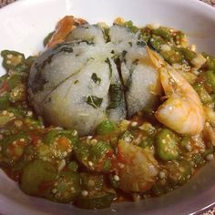 Kale Eba with seafood okra. Inspired by @Dooneys Kitchen! - A Thousand Words