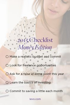 2015 Money Checklist | To-Do list for your budget!