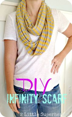 DIY Infinity Scarf by 2 Little Superheroes