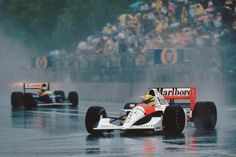 3 Nov 1991: The shortest race in #F1 history. The race in rain-soaked #Adelaide was officially 14 laps long and Ayrton #Senna's winning time was 24mins 34.899s #OnThisDay #65YearsOfF1 #Formula1 #AyrtonSenna #McLaren #AusGP by f1