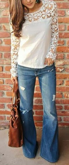 Lately been liking blouses with lace accents.