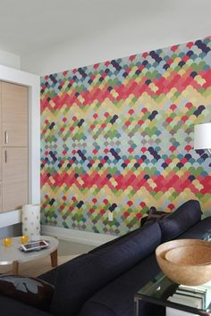 Blik's pattern wall tiles. I want these for the new place, especially if we can't paint the walls
