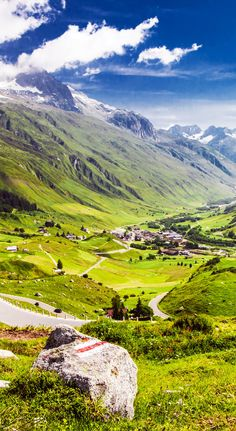 Mountain road in Swiss Alps Valley, Furka Pass, Switzerland | 23 Roads you Have to Drive in Your Lifetime