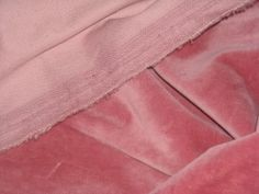 V12 Vintage Beautiful Old Pink Cotton Velvet Fabric | eBay