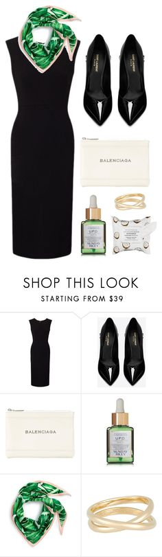 """""""Sleek"""" by cherieaustin ❤ liked on Polyvore featuring Roland Mouret, Yves Saint Laurent, Balenciaga, Sunday Riley, Echo, Maison Margiela and Sephora Collection"""