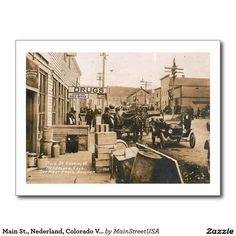 Main St Nederland Colorado Vintage Postcard