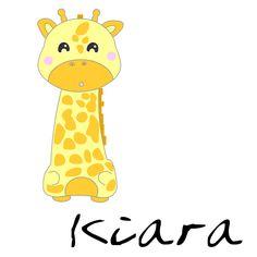 Me llamo Kiara y soy muy alta. Casi toco las estrellas por eso soy experta en sueños.