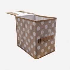Katlanabilir Puantiye Desenli Kutu 20 cm
