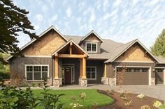 Craftsman Style House Plan - 3 Beds 2.5 Baths 2735 Sq/Ft Plan #48-542 Front Elevation - Houseplans.com