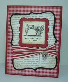 Sew Friendly by dahlia19 - Cards and Paper Crafts at Splitcoaststampers