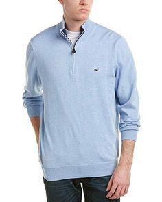 5b5f97326 Vineyard Vines Mens Cotton 1 4-Zip Sweater
