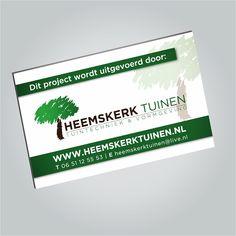 Grafische vormgeving en drukwerk Trespa reclameborden voor Heemskerk Tuinen Lisse. www.omega-design.nl