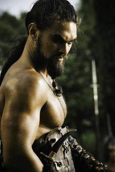 Jason Momoa as Khal Drogo in Game of Thrones.  Great series. http://media-cache5.pinterest.com/upload/86553624058619772_8fws4V8z_f.jpg memiller123 gorgeous