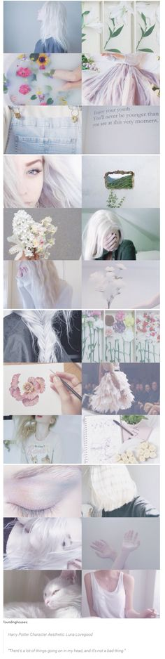"""foundinghouses: Harry Potter Character Aesthetic: Luna Lovegood 