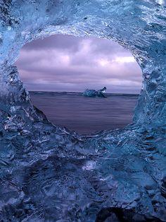 A frozen ice portal. Gorgeous view!