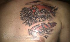 Godło Polski 3D - Pomysł na tatuaż