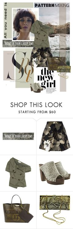 """Stay Bold: Pattern Mixing"" by lacas ❤ liked on Polyvore featuring Sugarboo Designs, P.A.R.O.S.H., Monse, Givenchy, Judith Leiber, khaki and patternmixing"