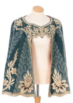 18th century blue cloak, couldn't find this exact pattern but you may like some of the ones I did find.  Cape cloak embroidered